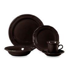 Mikasa French Countryside Chocolate 5-Piece Dinnerware Set - BedBathandBeyond.com