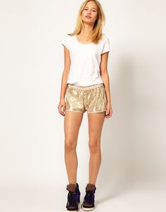 La Fee Verte Sequin Shorts