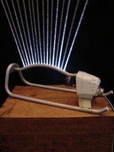 table lamp upcycled vintage lawn sprinkler