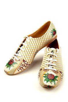 Nők Oxford cipő, mintás/többszínű - Goby