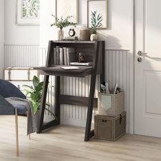 Feminine Apartment, Murphy Desk, Wall Mounted Desk, Floating Desk, Large Desk, Desk Areas, Loft Style, Grey Wood, Home Office Furniture