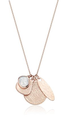Make it your own with a set of #RoseGold pendants from the Monica Vinader Siren and Marie collections #createyourown #necklace #pendants