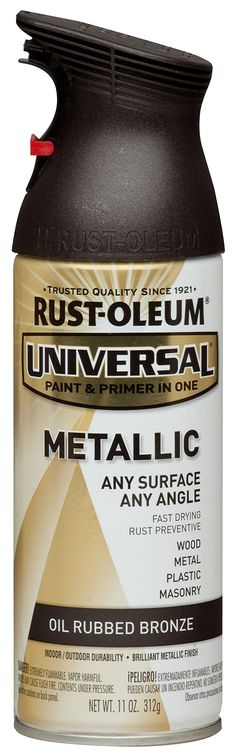 Door Knobs Rust Oleum 249131 11 Oz Universal All Surface Spray Paint, Oil  Rubbed Bronze Metallic