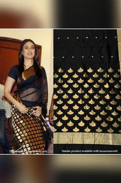 Chanderi Silk Saree, Silk Sarees, Saris, Kareena Kapoor Khan, Saree Look, Celebrity Look, Beautiful Saree, Occasion Wear, Exclusive Collection