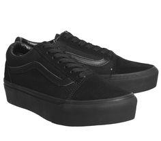 Vans Old Skool Platforms Black - Hers trainers caa268d229