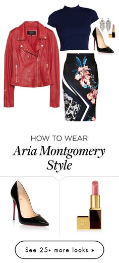 """""""Aria Montgomery Inspired Outfit"""" by daniellakresovic on Polyvore featuring Christian Louboutin and Tom Ford Grunge Look, 90s Grunge, Grunge Style, Soft Grunge, Grunge Outfits, Pll Outfits, Celebrity Outfits, Chic Outfits, Edgy Style"""