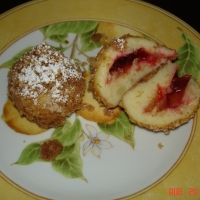 Plum Dumplings in sweet crumbs - Gomboc  my gradma used to make this for me when I got sick.... -