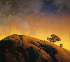 Cobble Hill by Maxfield Parrish, 1931. ~via Plum leaves, Flickr