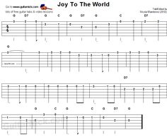 Joy To The Worls - easy guitar tablature Easy Guitar Tabs, Guitar Tabs Songs, Guitar Sheet Music, Simple Guitar, Guitar Tabs For Beginners, Ukulele Songs Beginner, Lead Guitar Lessons, Online Guitar Lessons, Piano