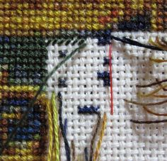 Another Parking method for cross stitching larger projects