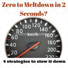 Tips on how to avoid meltdowns