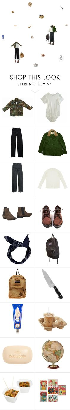 """""""my mate jezza"""" by monastic ❤ liked on Polyvore featuring Off-White, RE/DONE, GET LOST, Pepe Jeans London, Boohoo, JanSport, Chicago Cutlery, Buly, Sisley and Fortessa"""