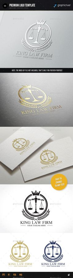 King Law Firm — Photoshop PSD #brand #lawyer • Available here → https://graphicriver.net/item/king-law-firm/9240570?ref=pxcr