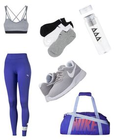 """""""Purple workout 💪🏼"""" by kaycass1 on Polyvore featuring NIKE"""