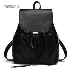 (32.04$)  Watch here - http://ai4s7.worlditems.win/all/product.php?id=32668272268 - MIWIND Fashion Backpack Women Leather Backpack String School Bags for Teenagers Mochila Feminina Bagpack Free Shipping