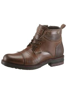 Petrolio Used-Look Lace-Up Boots