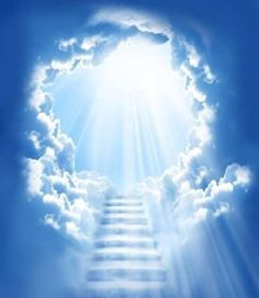 Stairway to Heaven light streaming, Akiane Kramarik Pictures of Heaven From, Real Movie, Colton Burpo, Licht Tattoo, Akiane Kramarik Paintings, Heaven Tattoos, L Ascension, Prophetic Art, Heaven And Hell, Christian Art, Stairways, Celestial