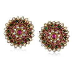I love traditional earings! Especially colourful ones with pearls
