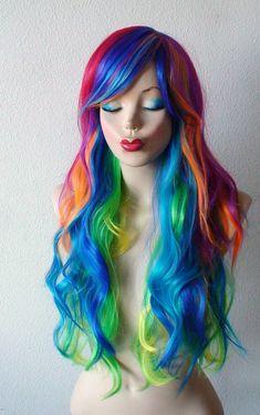 Spring Special // Rainbow color wig. Rainbow dash by kekeshop