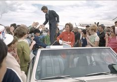 Robert F. Kennedy and Ethel Kennedy on the trail for the 1968 Oregon primary.