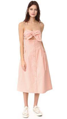 Sea Tie Front Cutout Dress