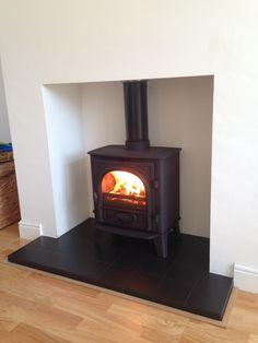 simple fireplace no surround scandi with shelf - Google Search ...