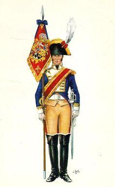 Infante 1808 Línea. Oficial abanderado