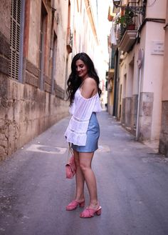 off-shoulder-lace-top-zara-blogger-fashion-streetstyle-mallorca-spain