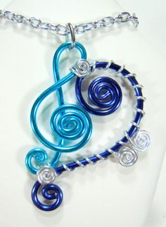 Treble and Bass Clef Pendant Necklace by melissawoods on Etsy, $30.00