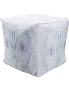 Mila Pouf, Pastel Green and Lavender