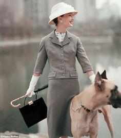 Great Dane. February 1956 shot by Karen Radkai for American Vogue.
