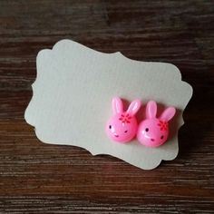 Hey, I found this really awesome Etsy listing at https://www.etsy.com/listing/183854268/hot-pink-bunny-earrings-for-easter-happy