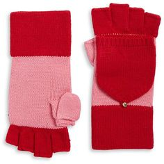 Kate Spade New York Colorblock Gloves (2.980 RUB) ❤ liked on Polyvore featuring accessories, gloves, red pink, long gloves, crochet gloves, cream gloves, kate spade gloves and kate spade