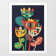 Wild Flowers Art Print by Budi Satria Kwan - $19.97