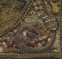 17th century ~ Flemish ~ Silk, metal thread and pearls on silk ~ The Metropolitan Museum of Art