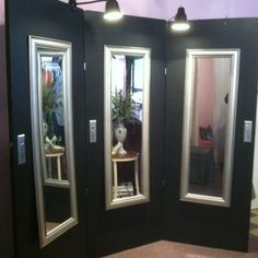 Cool use of old doors!!  Photo from Forever Diva Consignment Store downtown Erwin, TN. Such a creative idea!