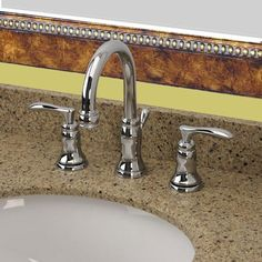 Pics On American Standard Portsmouth in Widespread Handle Mid Arc Bathroom Faucet with Speed