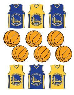 Etsy: Instant Download Golden State Warriors Cupcake Toppers by DecorAtYourDoor.
