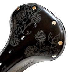 Clover Hand Carved Leather Bike Seat Brooks by KaraGintherLeather