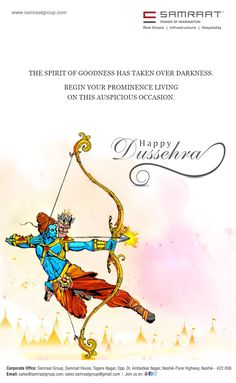Samraat Group wishes you all a very Happy Dussehra Classy Wallpaper, Colorful Wallpaper, Valentine Day Crafts, Valentines, Dussehra Wallpapers, Happy Dussehra Wishes, Indian Wall Art, Shivaji Maharaj Hd Wallpaper, Navratri Wishes