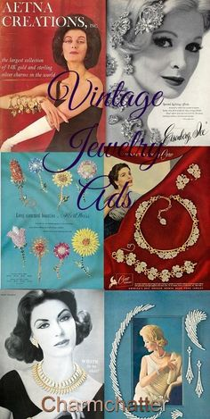 Collecting vintage jewelry advertisements is a great way to confirm the maker of old jewelry and very the era when the piece was sold