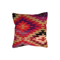 "One-Of-A-Kind Turkish Kilim Pillow   16""x16""  Cushion included"