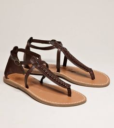 AEO BRAIDED T-STRAP SANDAL $29.50 - bought these today! :)