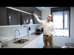 Cocinas Blancas MInimalistas Modernas sin tiradores con encimera de silestone blanco Zeus - YouTube