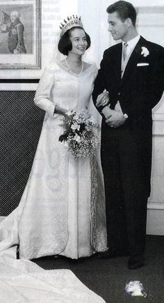 Princess Marie-Cecile of Prussia and Duke Friedrich August of Oldenburg.  They married in Berlin in a civil ceremony on 3 December 1965 and a religious ceremony the following day - divorced in 1989