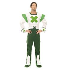 This Official Green Cross Code Man Costume, made famous in the and on road safety TV adverts, Includes jumpsuit and boot covers 80s Themed Fancy Dress, Genie Fancy Dress, Fancy Dress Store, 1980s Costume, Retro Costume, Cheerleader Costume, Cheerleading Outfits, Granny Costume, Gangster Costumes