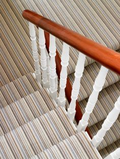 St Johns Wood Townhouse Striped Carpet to Stairs Striped Carpets, John Wood, Hall Carpet, Interior Photography, Townhouse, Stairs, Gap, Hallways, Porch