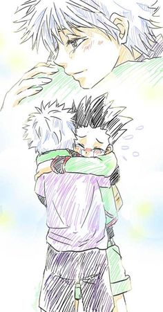 Imagine this is when they meet again after a long time - killua and gon Hunter x Hunter