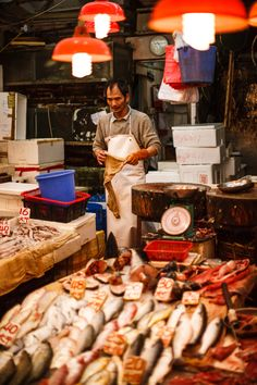 Wan Chai fish market, Hong Kong