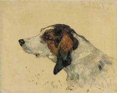 Henri de Toulouse-Lautrec, Hunting Dog 1881, oil on canvas